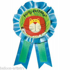 African Wild Animals Jungle Children's Party Confetti Prize Badge Award Ribbon