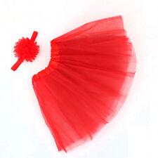 Newborn Baby Girls Tutu Skirt & Headband Photo Prop Costume Outfit Fashion VNC