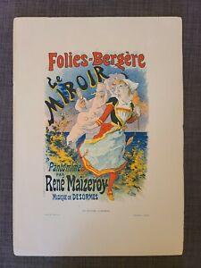 1890s Folies-Bergere Le Miroir Pantomime by Jules Cheret, Print Chaix Imprimerie