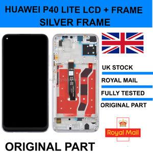 GENUINE ORIGINAL HUAWEI P40 LITE LCD SCREEN DISPLAY INCLUDING Silver FRAME