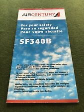 safety card air century sf 340 b