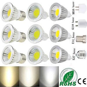 Ultra Bright MR16/GU10/E27/E14 Dimmable 6W/9W/12W LED COB Spot Lights Bulbs Lamp