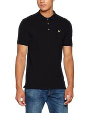 New Mens Lyle & Scott SP400VTR Classic Pique Polo Shirt True Black  Size S