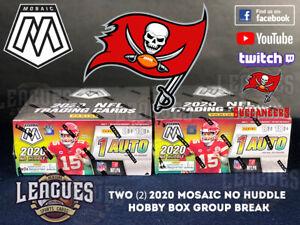 Buccaneers | 2020 Panini Mosaic NO HUDDLE Hobby Box Football Two (2) Box Break