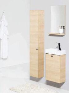 Badmöbel Set Gabun Sieper Waschtischunterschrank Badezimmermöbel eiche hell