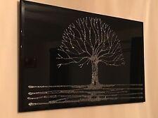 Silver glitter tree black mirror- Home Decor