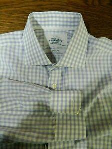 Charles Tyrwhitt  Men's Dress Shirt 16 / 35 Slim  Purple White check NWOT MS179