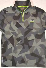Polo Sport Ralph Lauren Camo Hallf-Zip Jersey Pullover Performance Shirt L NWT