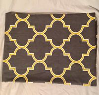 """Geometric Tablecloth Gray, Yellow, White 100% Cotton by """"Linen Tablecloth"""" brand"""