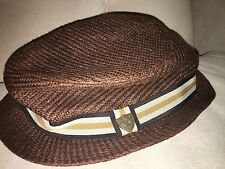 Boys Easter Hat Solid Brown FORE!! Axel & Hudson Size 7 Fedora