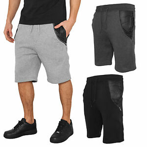 Urban Classics Side-Zip Faux Leather Sweatshorts Training Shorts HoseTB982