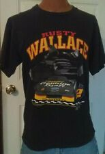 Vintage Rusty Wallace Miller Genuine Draft NASCAR T-Shirt Size Large Must See
