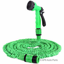 75ft 23m Expanding Flexible Latex Garden Water Hose Pipe Spray Gun Sprinkler New