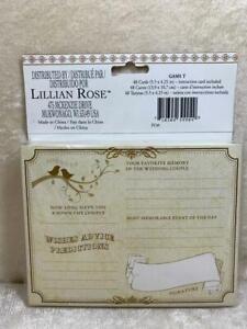 Lillian Rose 48 Wedding Wishes & Advise Cards Wedding Guest Book Alternative