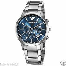 IMPORTED LUXURY EMPORIO ARMANI AR2448 BLUE DIAL CHRONOGRAPH MENS WATCH