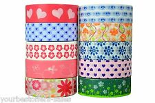 Decorative Washi Tape Lot Craft Supplies Scrapbooking Supplies 10 Pack Colorful