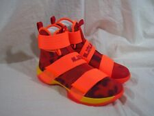 Nike Lebron Soldier 10 X ID Orange Camo Men's size 9 US 885682-991