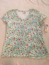 Covington Womens Shirt Blue Pink Floral Size S Small 6 8 NWT New
