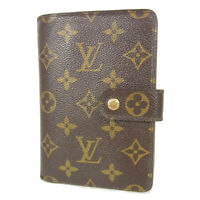 Auth LOUIS VUITTON NO STICKY M61207 Monogram Porte Papier Zip Wallet 18183bkac