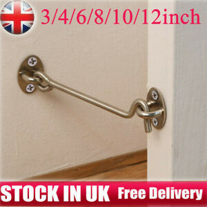 Stainless Steel Hook & Eye Door Cabin Latch Farm Barn Door Gate Hook and Eye UK