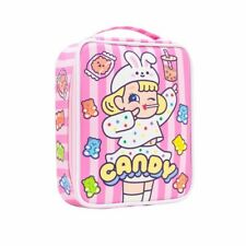 School Pencil Case Girls Mesh 48 Holes Large Cute Pen Box Stationery Bag Crayon