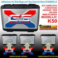 Kit 3 adesivi borse valigie K50 BMW R1200GS LC RALLYE r1200 gs stickers dal 2013