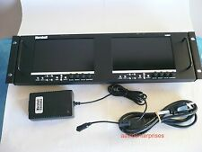"""Mint Marshall V-MD72 dual 7"""" LCD monitor rack with DVI, Astro/Transvideo/Ikan"""