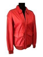 Pelle Leather Jacket Vintage Red Leather Jacket Thriller Jacket Women's Small