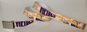 Minnesota Vikings BELT & Buckle Pro Football Team Fan Game Gear NFL Shop MN New