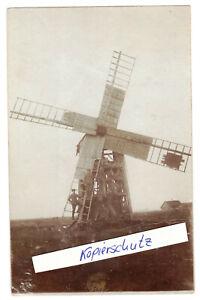 Foto Ak zerstörte Windmühle windmill Soldaten 1916 WW1 1 Wk !