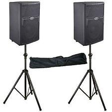"2x Peavey PVXp 10 800w Powered 10"" PA Speaker Pvxp10 Stands 2yr 12.7kg"