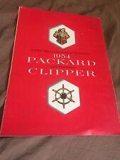 1954 Packard 400 Patrician Cavalier Mayfair Clipper Catalogo Brochure Prospetto