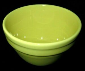 Vintage  Fowler Ware Yellow Mixing Pudding Bowl Australian Pottery Kitchenalia