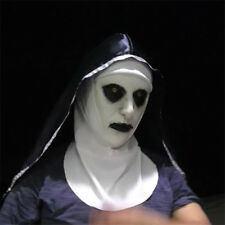 Movie The Nun Horror Hood Valak Scary Latex Masks With Headscarf Cosplay Props