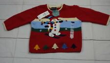 The Children's Place Boys Red Snow Man Sweater Size 6-9 Months NWT - A1901