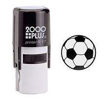 Soccer Ball Self Inking Rubber Stamp - Black Ink (E-6014)