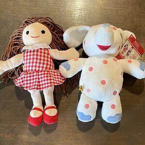 Build a Bear Rudolph The Reindeer Misfit Spotted Elephant Mini Plush & Dolly