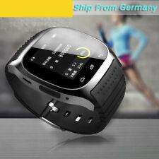 Smartwatch Bluetooth Armband Uhr Kamera Für Android Smartphone SMS Handy Schwarz