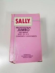 Vintage Sally Beauty Supply Professional Jumbo End Wraps # 157990