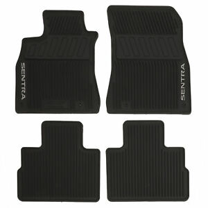 OEM NEW 2020 Nissan Sentra 4 Pc Black Rubber All Season Floor Mats T99E1-6LB0A