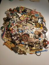 New listing Huge Junk Drawer Lot Coins Vfw Patches Belt Buckles Jewelry Advertisement Gems