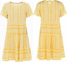 Ethno Boho Jersey-Kleid Tunika-Kleid Größen 40-44-48-50 gelb Neu G-936864