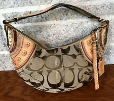 COACH LIMITED EDITION STUDDED SIGNATURE SHOULDER HOBO 10482 HANDBAG PURSE BAG