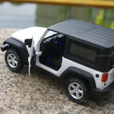 Jeep Wrangler 2014 1:32 Alloy Diecast Car Model Sound&Light White Collection Toy