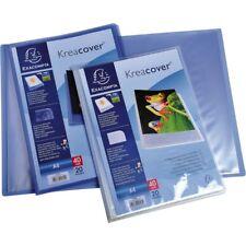 Exacompta Kreacover 20 Pocket A4 Presentation Document Folder Display Book Blue