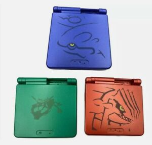 Game Boy Advance SP Pokemon Groudon Kyogre Rayquaza Housing Shells