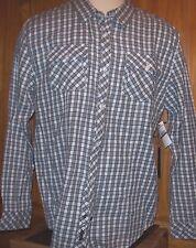NEW O'Neill DRAKE WOVEN sz XXL 2XL button up front shirt long sleeve gray plaid