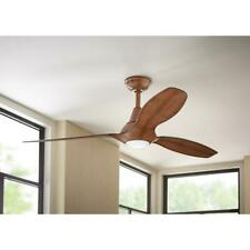 Tidal Breeze 56 in. LED Indoor Distressed Koa Ceiling Fan with Light Kit and ...