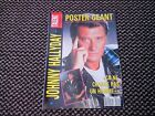 "Johnny Hallyday ""Talent Magazine"" n°10 1992 Poster Géant"