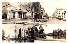 Rppc, Reno-Nevada Multi View-Washoe Court House-Street Scene c1940's Postcard